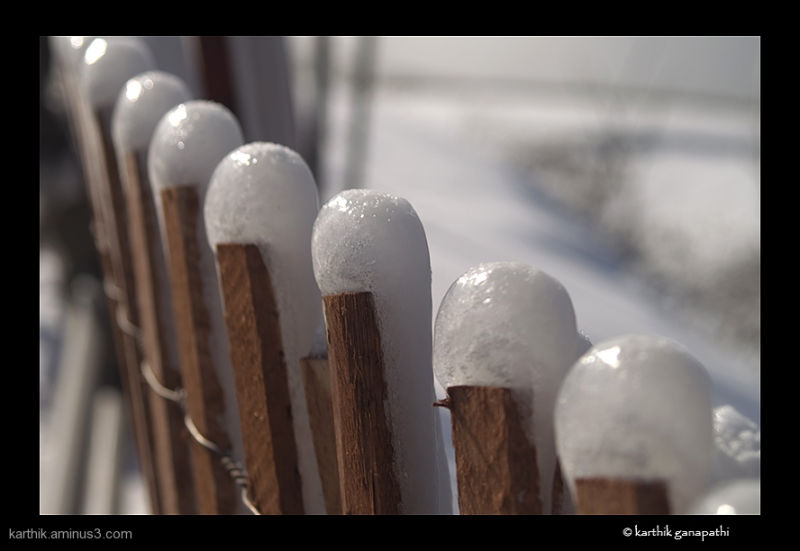 fence, niagara falls, ice