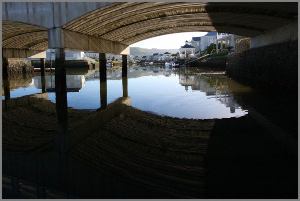 water waterfront island bridge