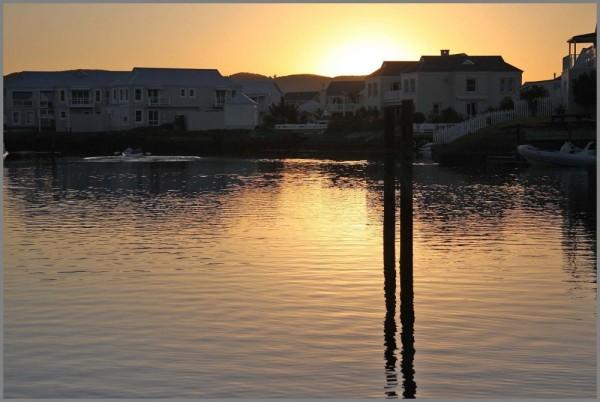 thesen island water sunset reflections Knysna