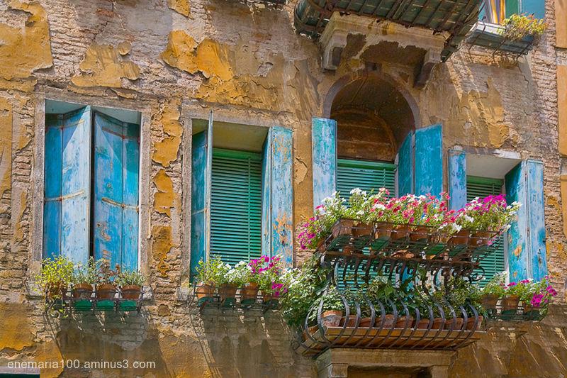 Blue Windows, Venice Italy
