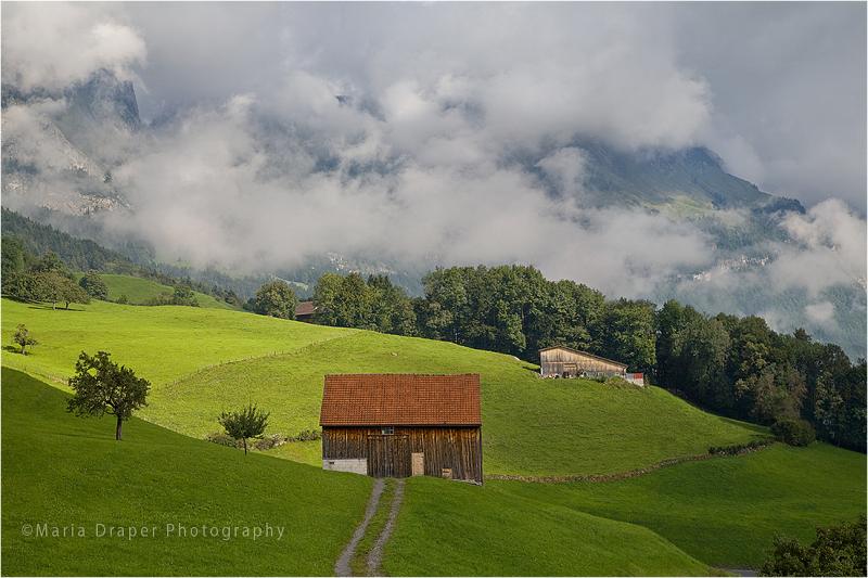 Red Barn, Gams Village, Switzerland