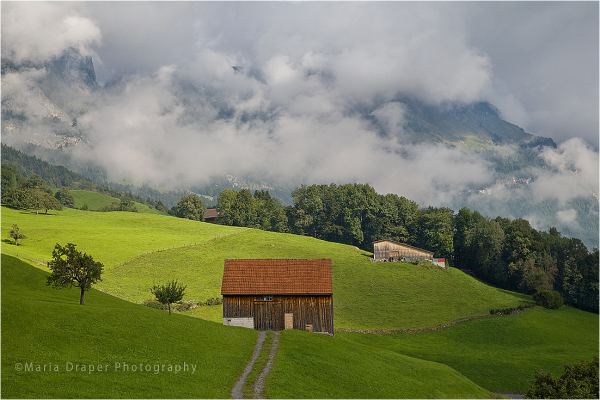 Red Barn, Gams Village, Switzerland
