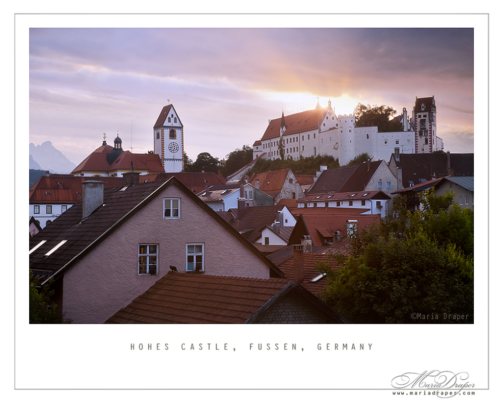 Hohes Castle & St. Mang Basilica, Fussen, Germany