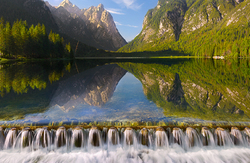 Lake Dobbiaco, South Tyrol, Italy