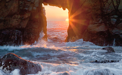 Pfeiffer Rock Portal, Big Sur, California