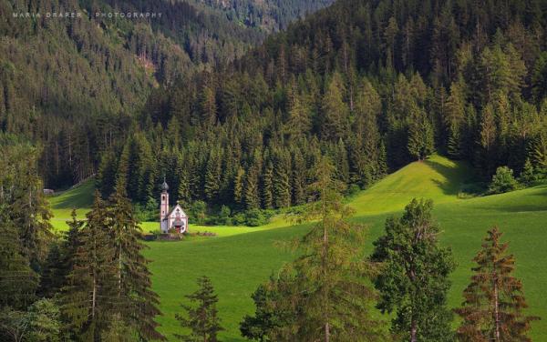 St. Johann in Ranui, Val di Funes, Italy