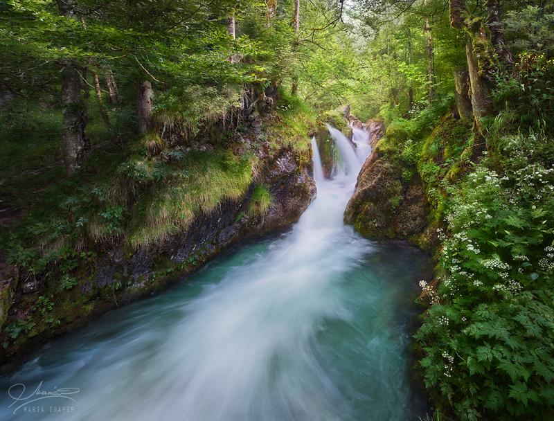 Sagenbach Waterfall in Bavaria, Germany