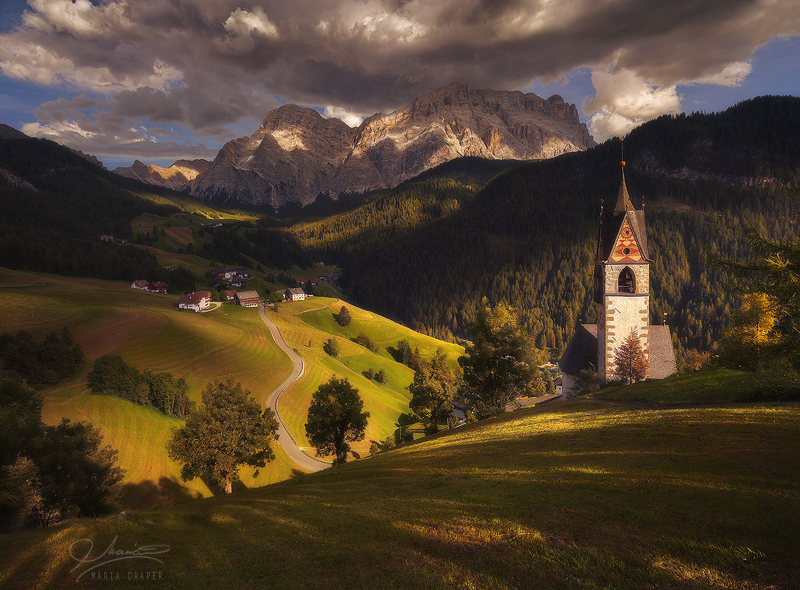 Gorgeous little village in the Dolomites