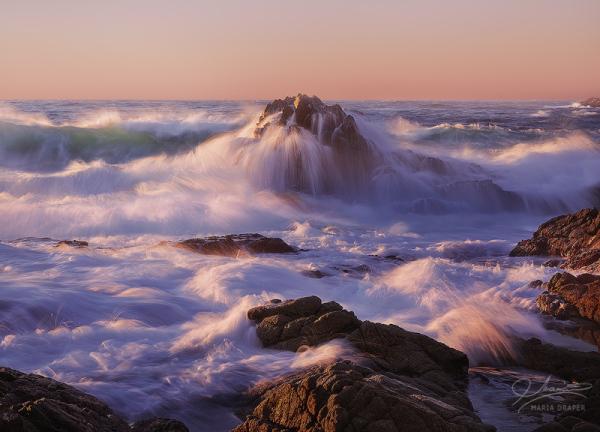 ~~ Crashing waves at Garrapata State Park, Califor