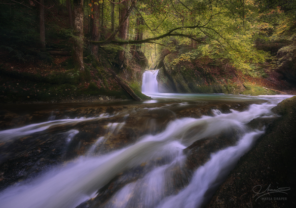 Small waterfall in Allgau (Germany)