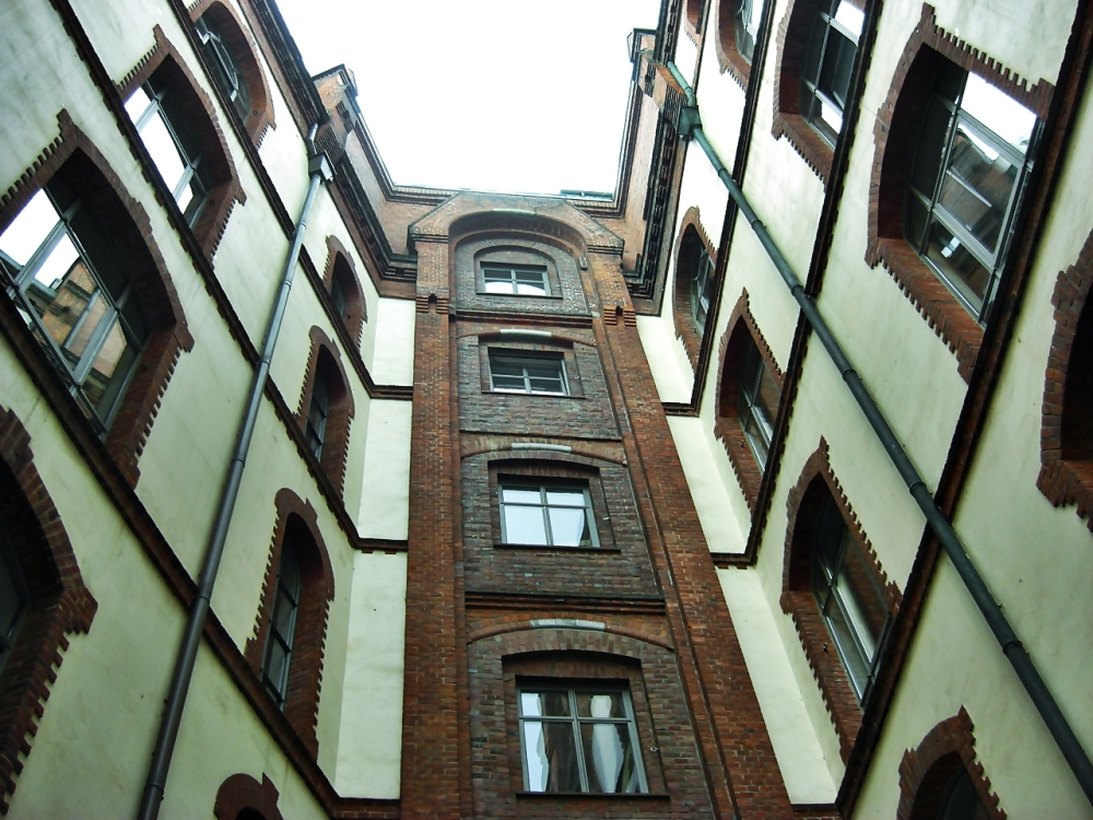 inside courtyard
