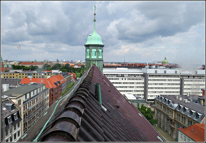 above the roofs