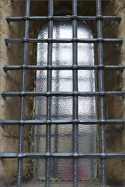 latticed window