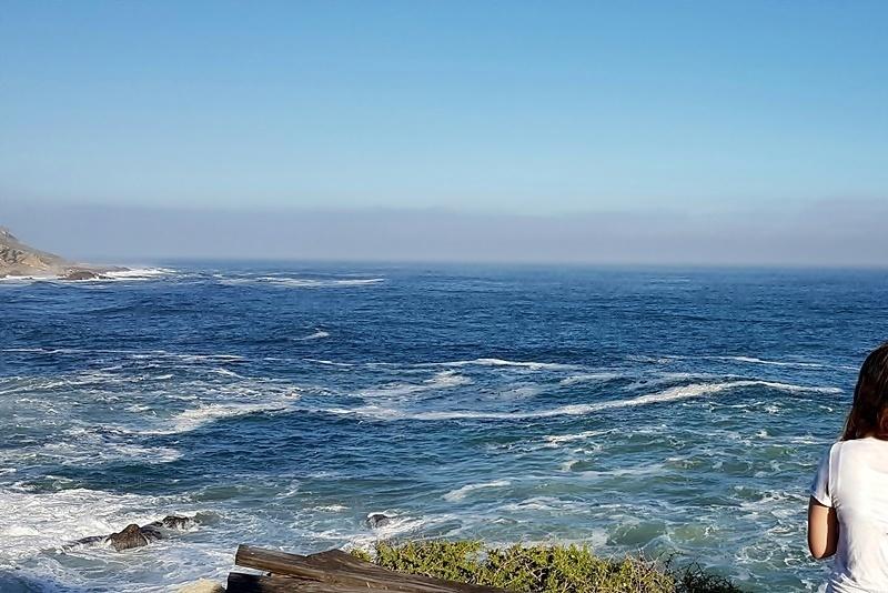 at the coast