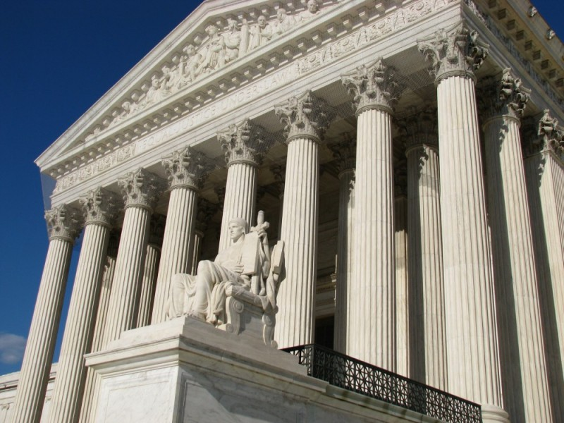 The west side of the SCOTUS building
