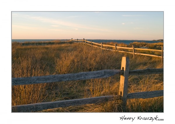 Madaket Fence, Nantucket by Henry Krauzyk ©2006