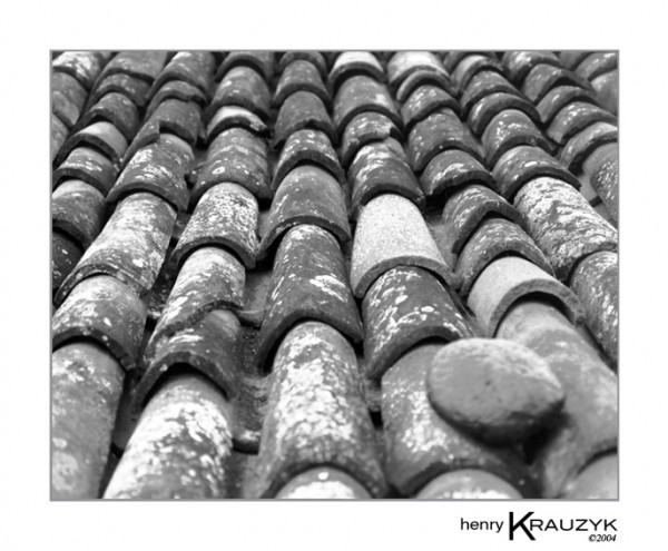 Tiled Roof, Sao Miguel by Henry Krauzyk ©2004