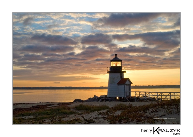 Golden Morning at Brant Point by Henry Krauzyk
