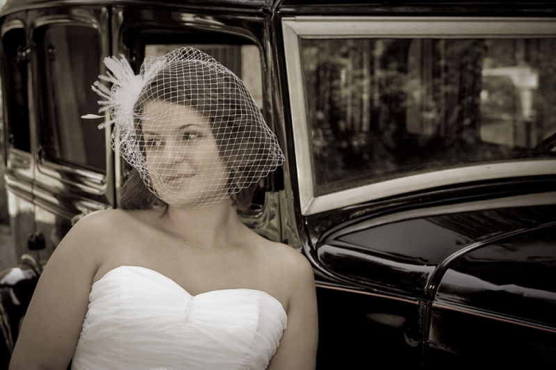 Bride with Antique Auto by Henry Krauzyk ©2008