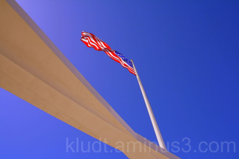 Flag over the Arizona