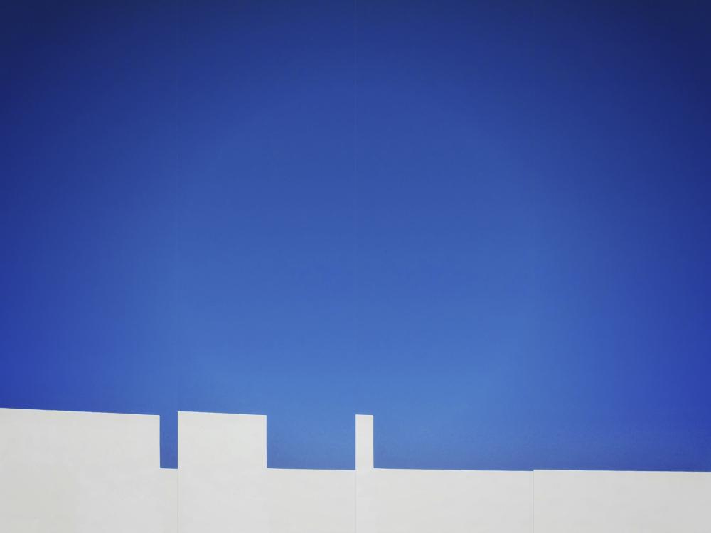Blue & White 1/2