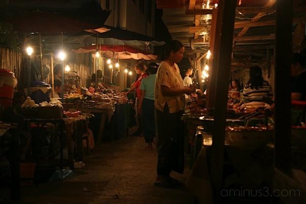 Night food market, Luang Prabang, Laos