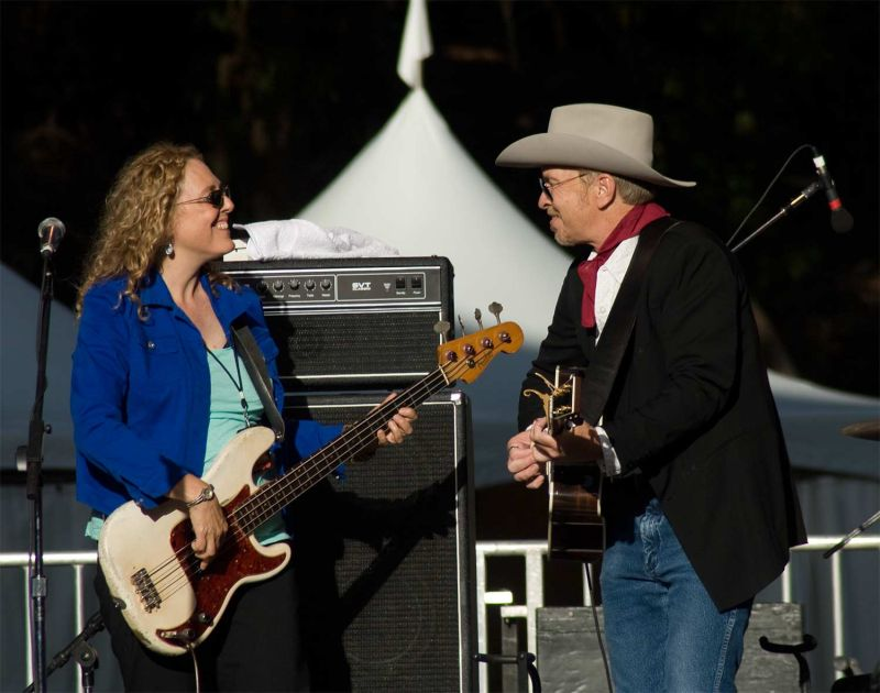 Dave Alvin and Sarah Brown at Hardly Strictly 2008