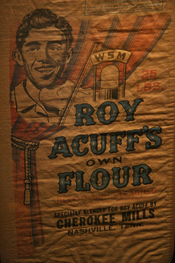 Roy Acuff Flour at the Country Music Hall of Fame
