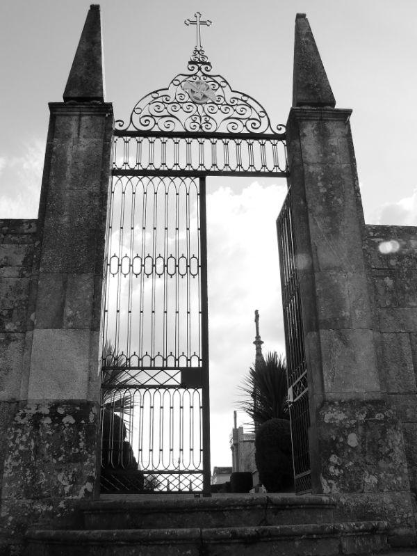 The door to the cemetery