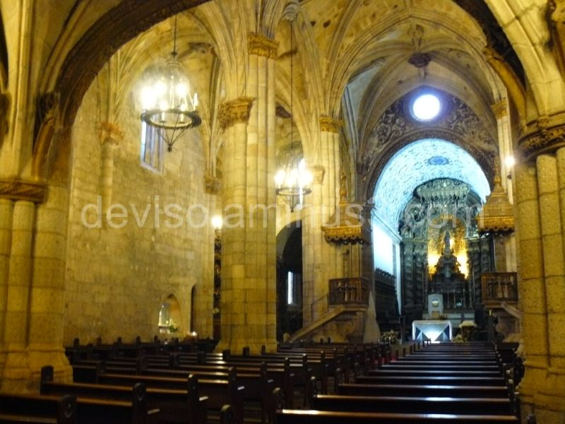 Inside the Cathedral of Viseu