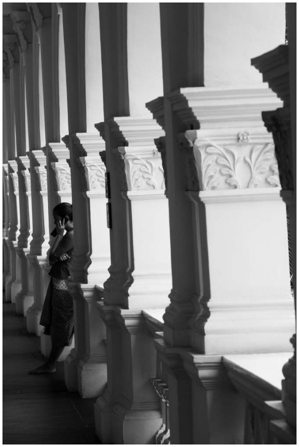 Corridor in the Raffles hotel