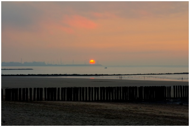 Sunset in Knokke