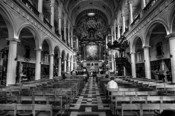 Antwerp Carolus Borromeus church interior