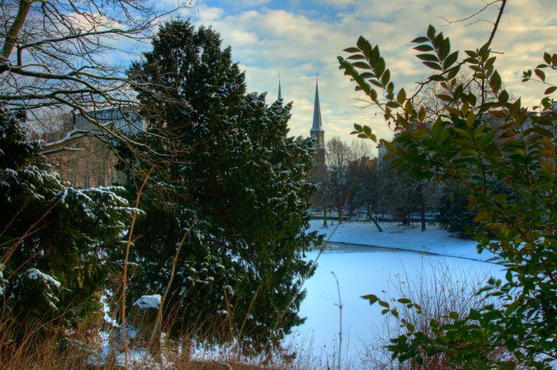 Snow in Antwerp