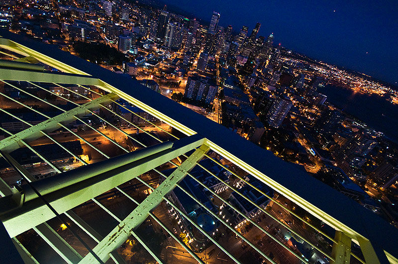 Looking Down From The Space Needle Cityscape Amp Urban