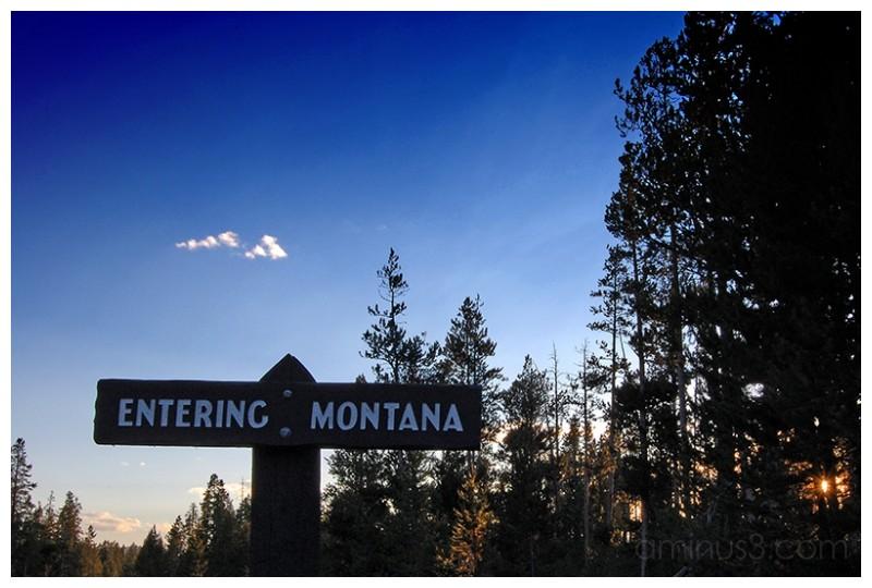 Entering montana sign