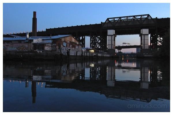 Gowanus canal brooklyn dusk