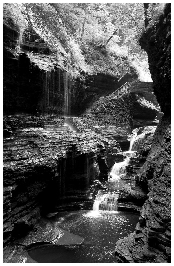 Watkins Glen New York waterfall