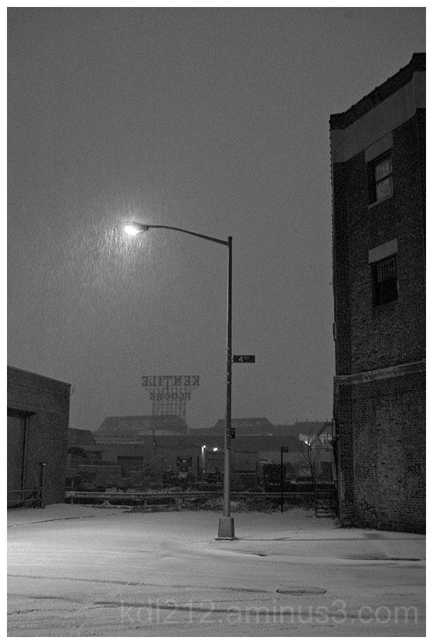 Gowanus 49: Night snow