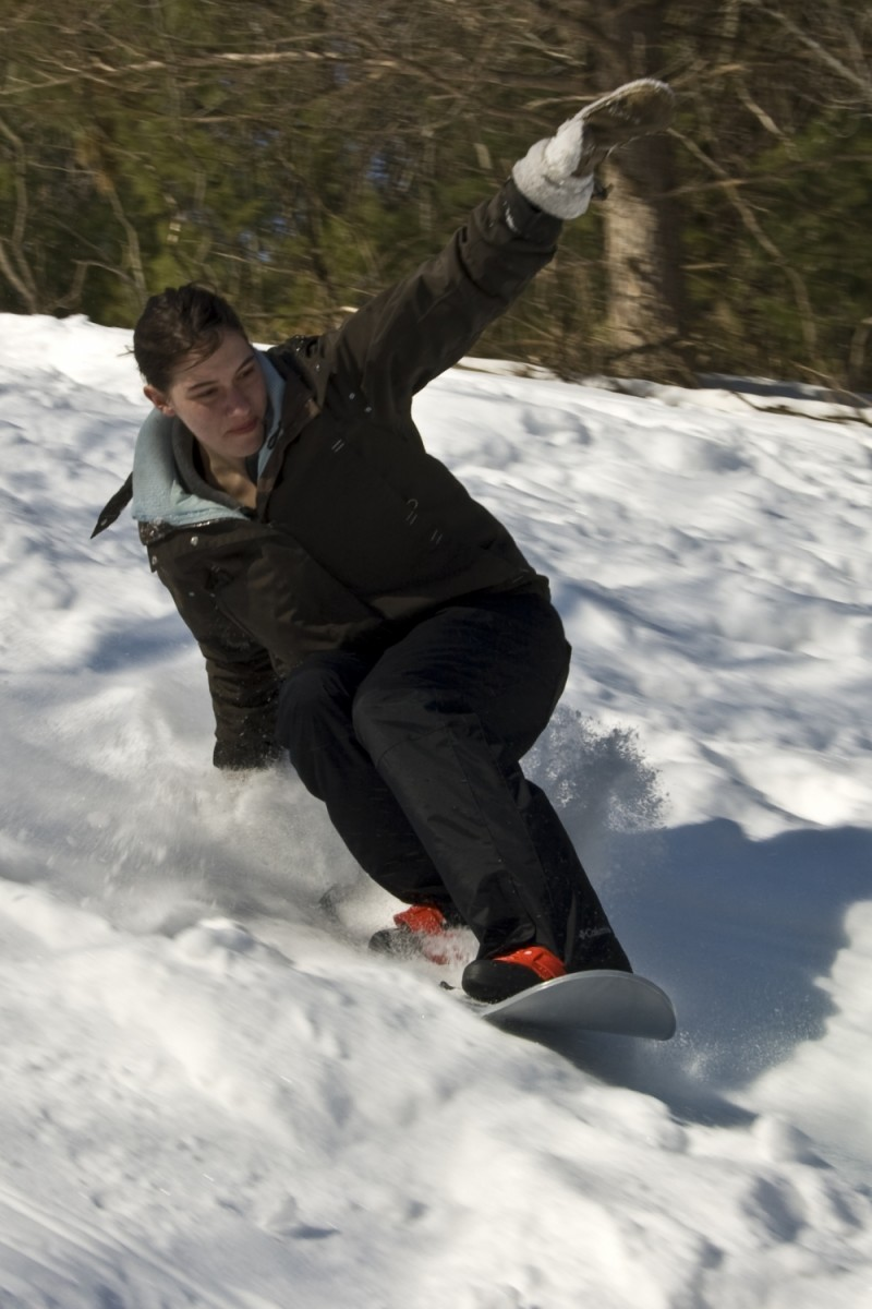 Snowboarding Kelly