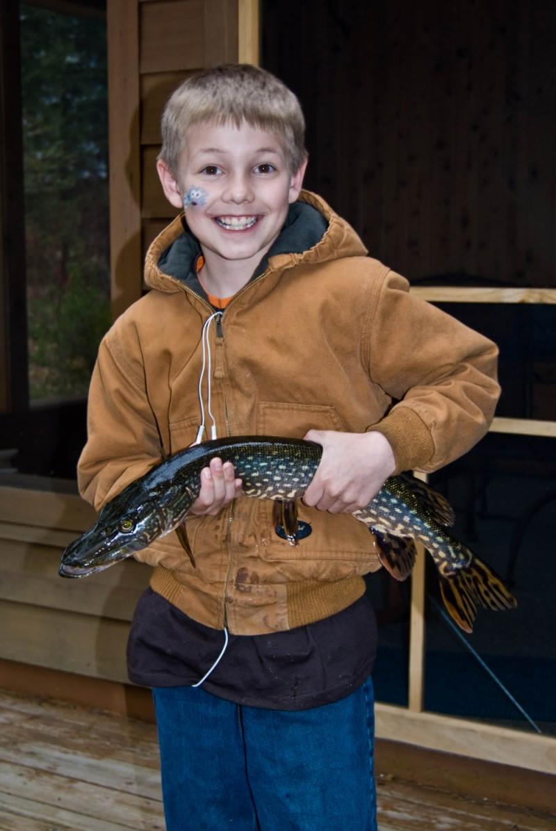 Ethan catches a big Northern