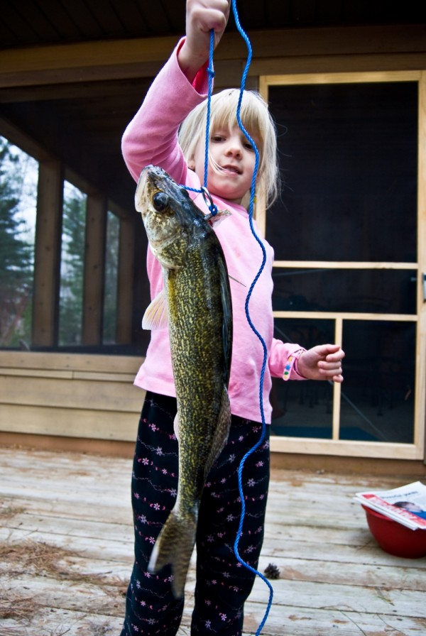 Tirzah with the Walley her brother caught