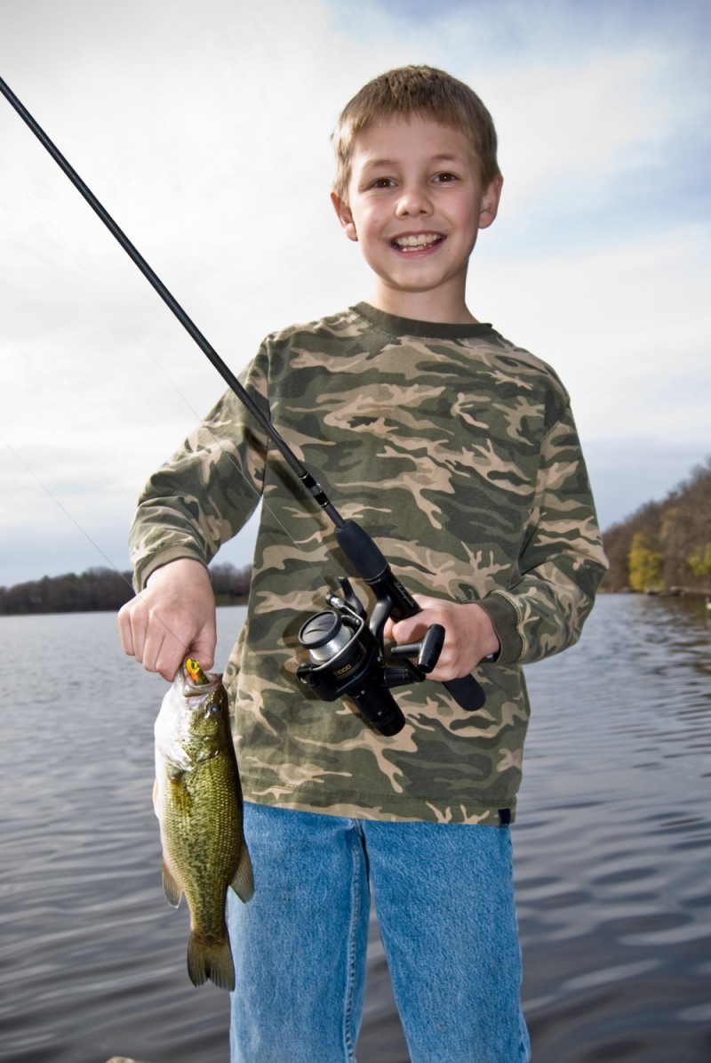 Ethan with his Largemouth Bass