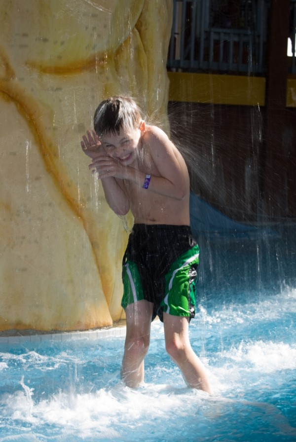 Ethan at the waterpark