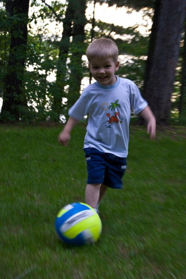 Armin playing soccer