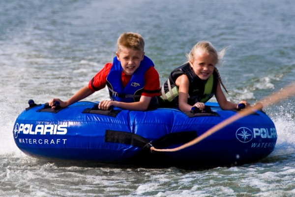 Ethan and Rory Tubing