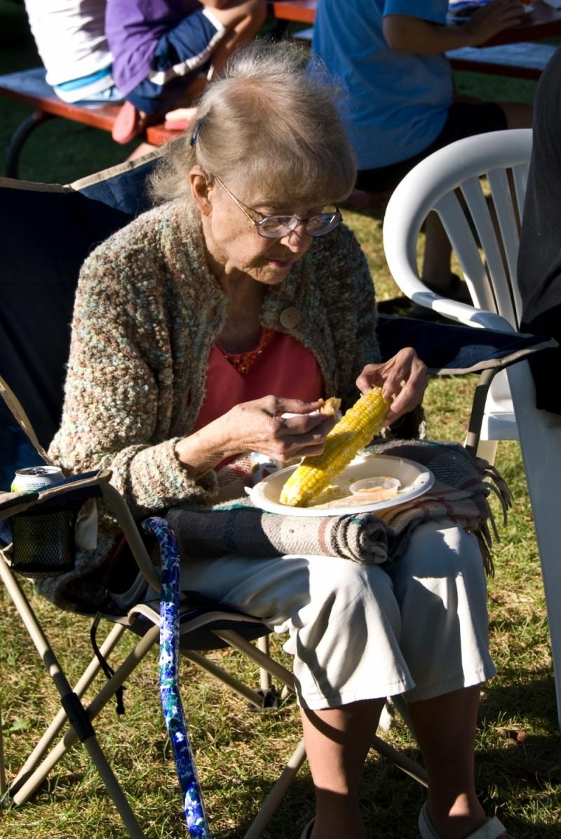 Grandma at the Farmer's Market