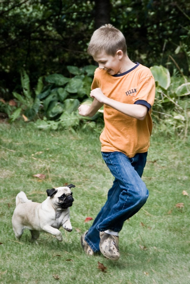 Ethan running with Bella