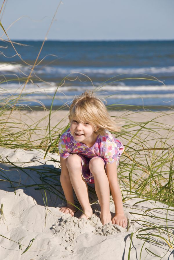 Tirzah in Florida on the beach