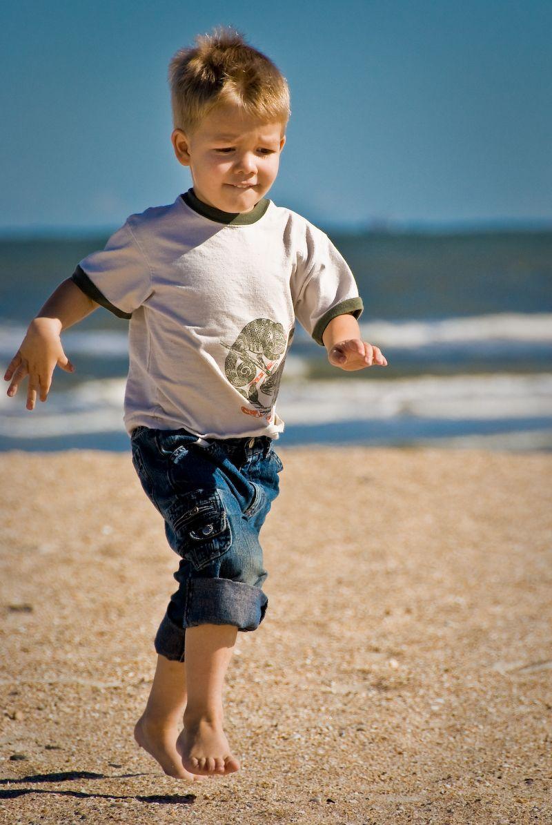 Armin Running on the beach in Florida